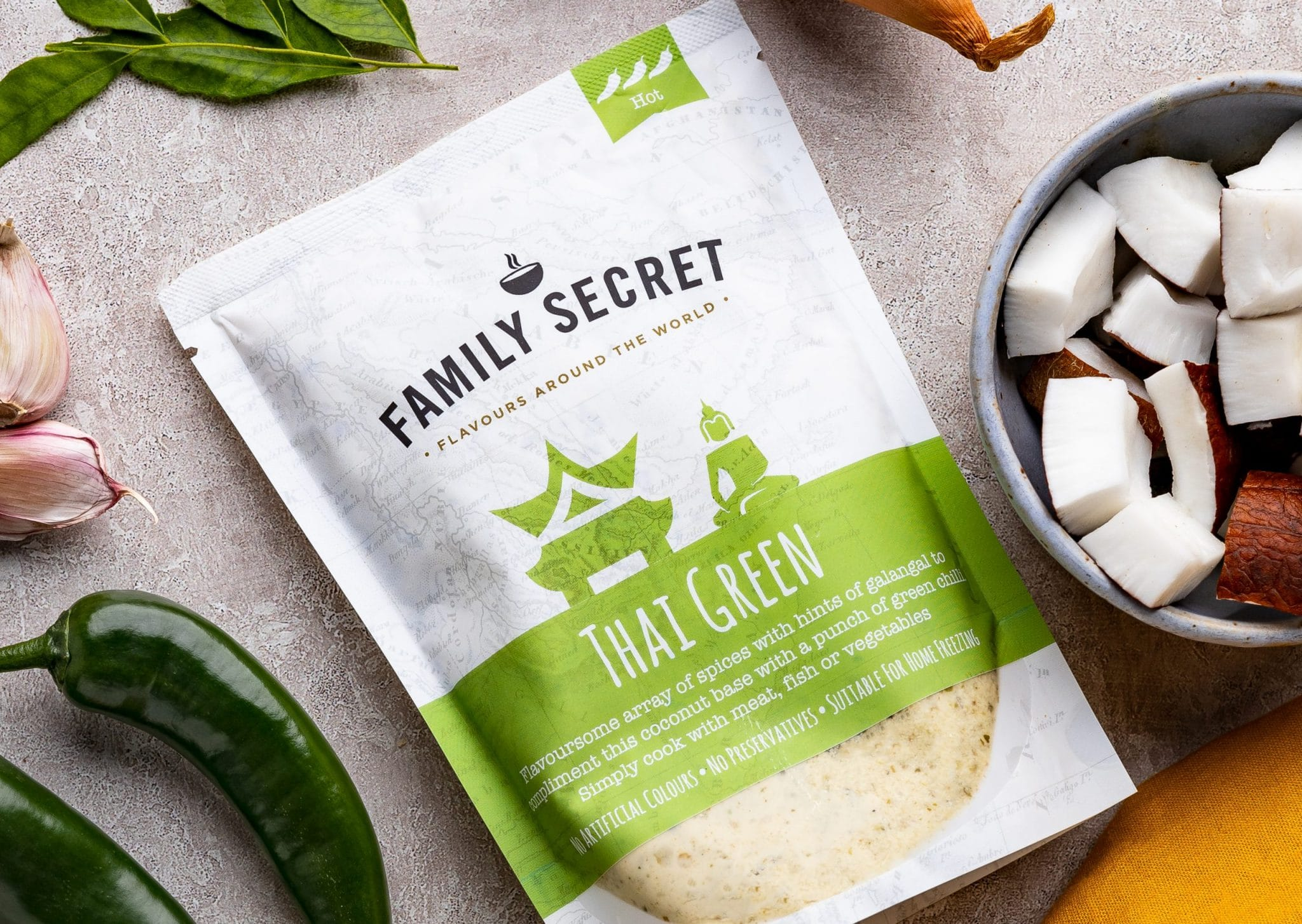 Cooking with green thai
